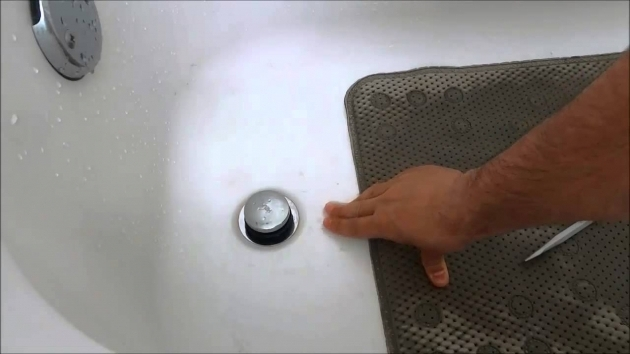 Image of How To Remove Bathtub Stopper How To Replace A Bathtub Drain Stopper Toe Touch Youtube