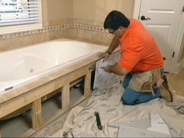 Inspiring Installing A New Bathtub Claw Foot Tub Installation Surround Demolition How Tos Diy