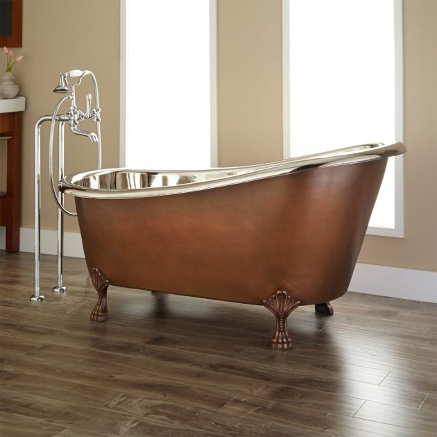 Marvelous Copper Clawfoot Tub Norah Victorian Copper Slipper Clawfoot Tub Nickel Interior