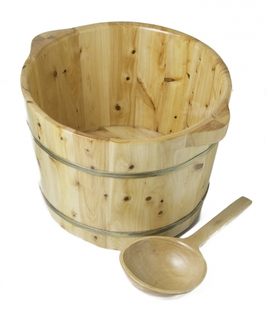 Marvelous Foot Soaking Tub Alfi Ab 6604 Round Wooden Ceder Foot Soaking Tub