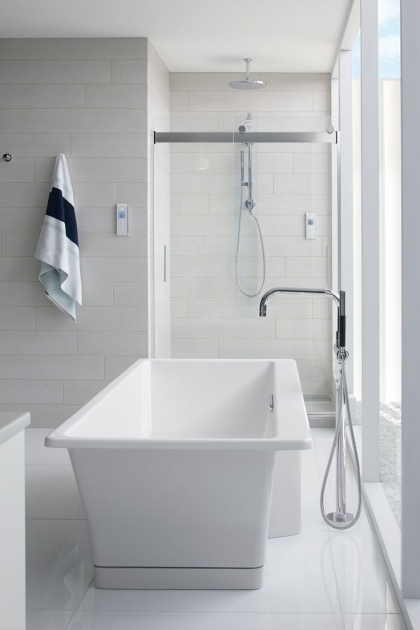 Marvelous Vertical Bathtub Bathroom Vertical Bathtub In White With Glass Shower Door Also