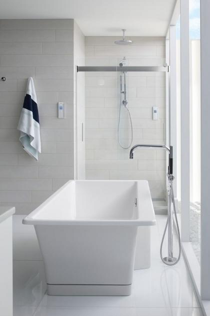 Marvelous Vertical Bathtub Bathroom Vertical Bathtub In White With Glass Shower Door Also