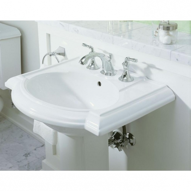 Picture of Kohler Devonshire Whirlpool Tub Bathroom Kohler Devonshire Kohler Widespread Lavatory Faucet