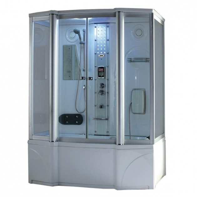 Picture of Steam Shower With Whirlpool Tub Ariel 67 In X 35 In X 86 In Steam Shower Enclosure Kit With