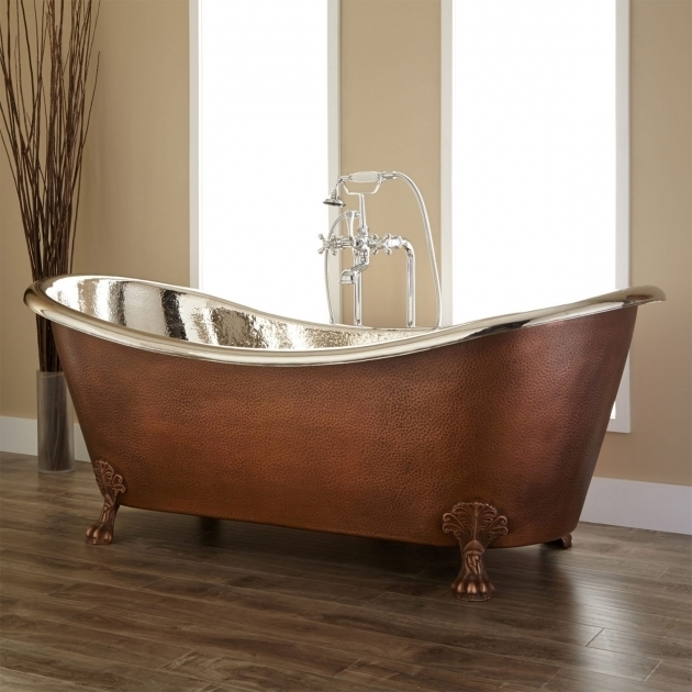 Remarkable Copper Clawfoot Tub 72 Isabella Copper Double Slipper Clawfoot Tub Nickel Interior