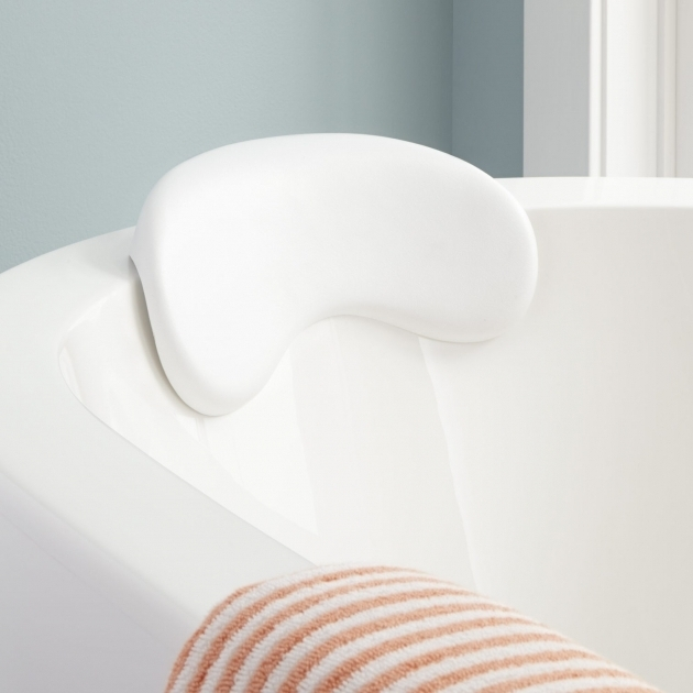 Stunning Bathtub Wedge Curved Bath Pillow Bathroom