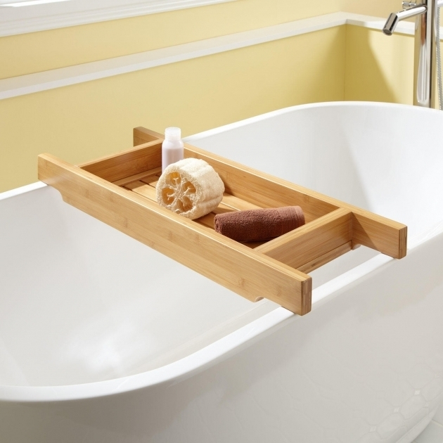 Stylish Clawfoot Tub Shampoo Holder Bathroom Bath Tub Caddy For Spa Like Atmosphere In The Bath