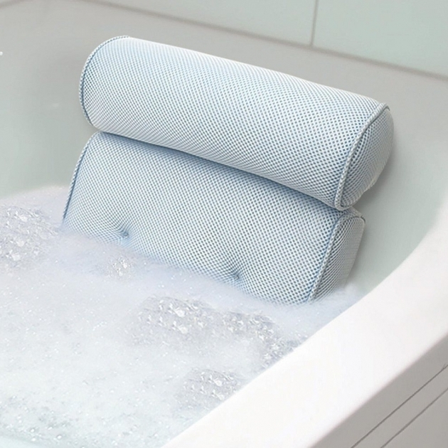 Wonderful Bathtub Wedge Bath Tub Spa Pillow Cushion Neck Back Support Foam Comfort Bathtub