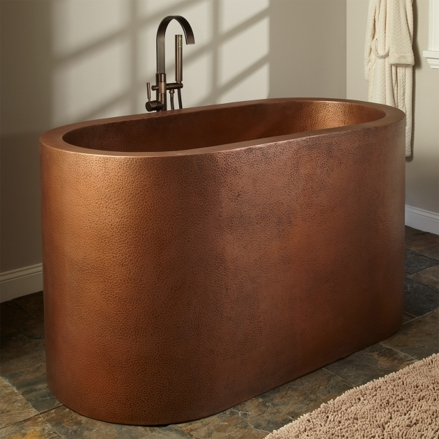 Alluring Copper Soaking Tub 60 Watson Double Wall Copper Soaking Tub Bathroom