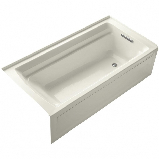 Alluring Heated Soaking Tub Kohler Archer Vibracoustic 6 Ft Left Drain Soaking Tub In Biscuit