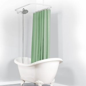 Oval Shower Curtain Rod For Clawfoot Tub