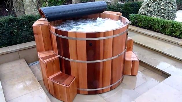 Beautiful Cedar Soaking Tub Funiture Wonderful Cedar Hot Tub Combined With Electric Fire And