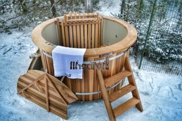 Beautiful Cedar Soaking Tub Red Cedar Wood Fired Hot Tub Unique Model Timberin Youtube