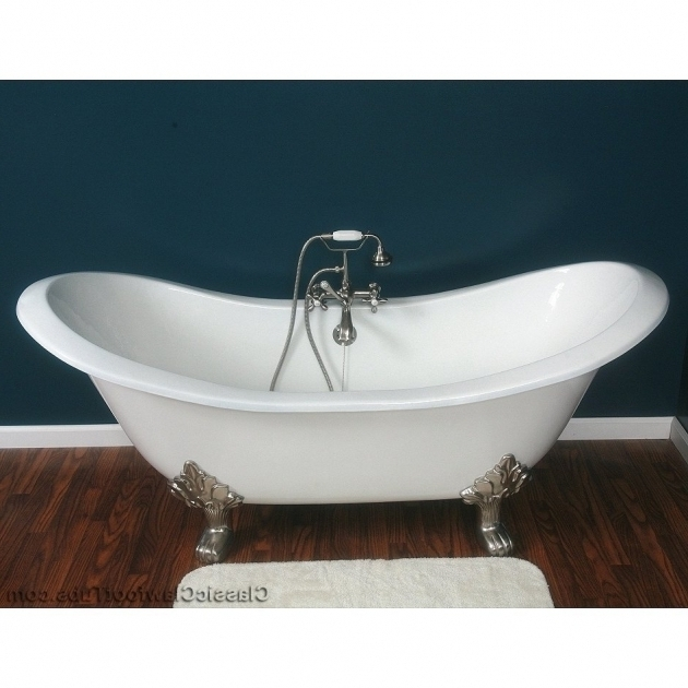 Used cast iron clawfoot tub home design plan for Cheap clawfoot tubs for sale
