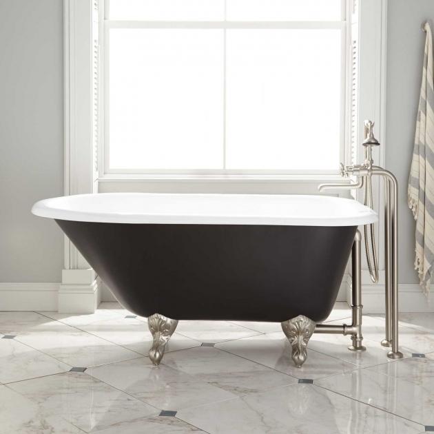 Fantastic 54 Clawfoot Tub 54 Miya Cast Iron Clawfoot Tub Ball Claw Feet Black Bathroom