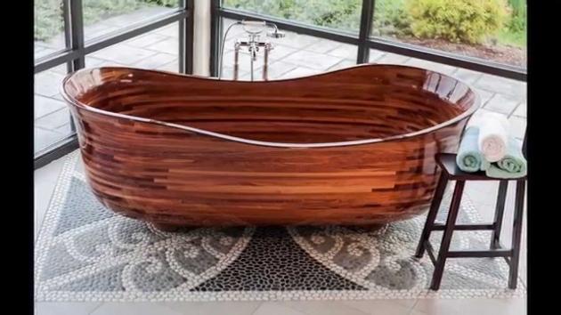 Fascinating Cedar Soaking Tub Custom Wood Bathtub Youtube