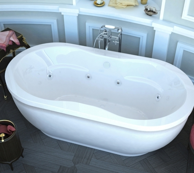 Inspiring Freestanding Whirlpool Tubs Monet 34x71 In Freestanding Air Whirlpool Jetted Bathtub White