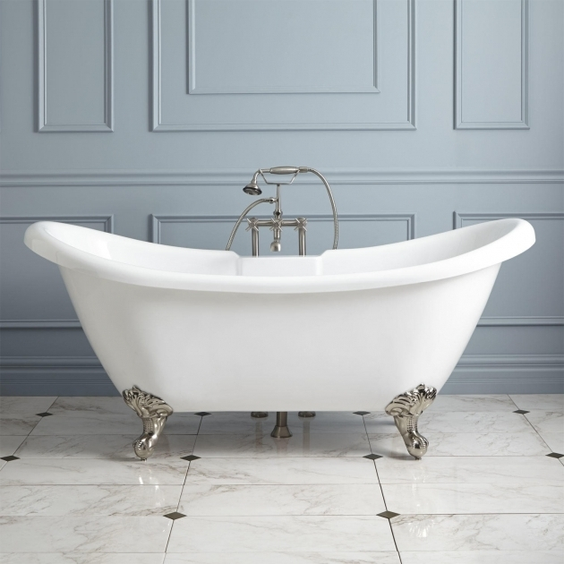 6ft clawfoot tub bathtub designs for Built in clawfoot tub