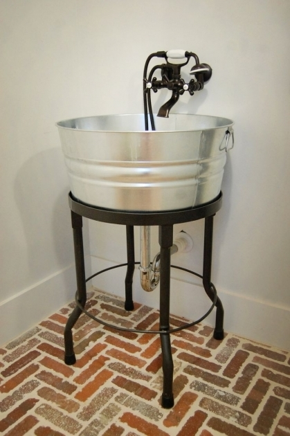 Marvelous Galvanized Bathtub 25 Best Ideas About Bucket Sink On Pinterest Corrugated Tin