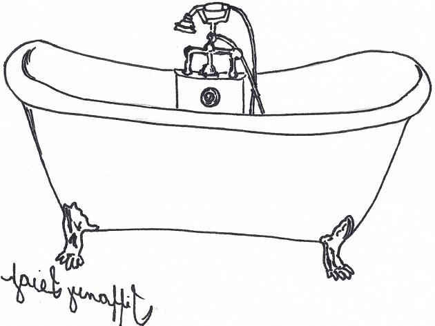 How To Draw A Bathtub Bathtub Designs