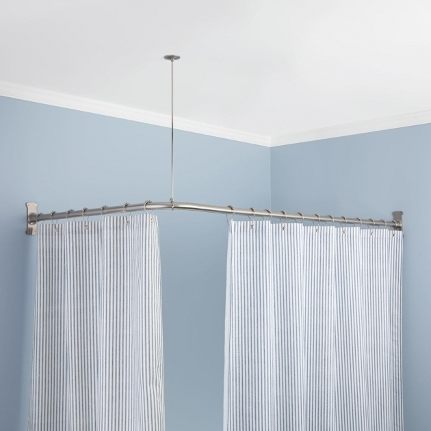 Outstanding Oval Shower Curtain Rod For Clawfoot Tub Rods Signature Hardware