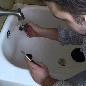 Unclogging Bathtub