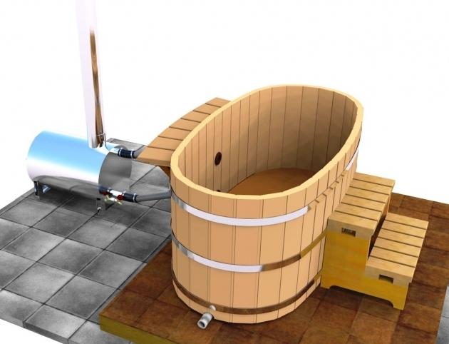 Remarkable Wood Fired Japanese Soaking Tub Japanese Wood Ofuro Soaking Tub For 2 Wood Fired Heater Ebay
