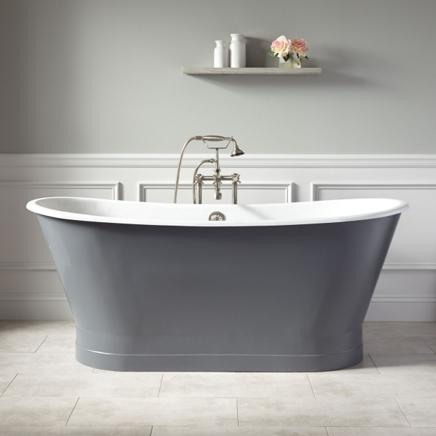 Stunning 2 Sided Bathtub Light Gray Tub Signature Hardware