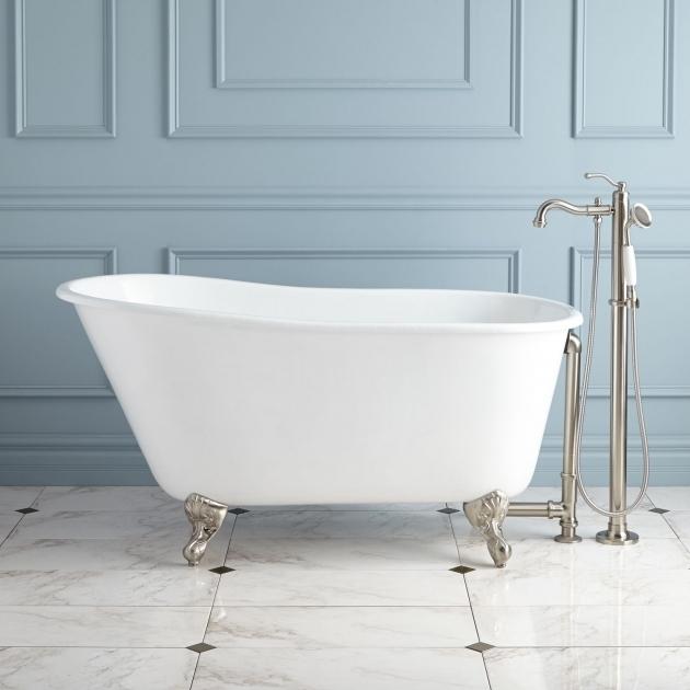 Stunning 54 Clawfoot Tub Carine Cast Iron Slipper Clawfoot Tub Bathroom