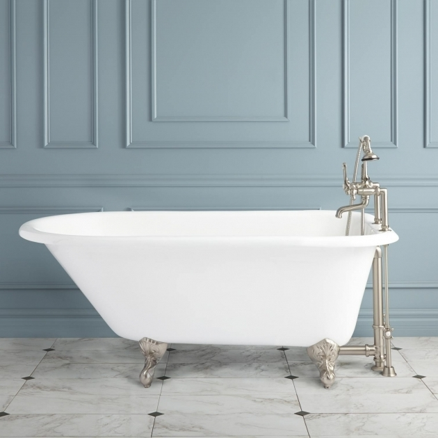 stunning built in clawfoot tub celine cast iron clawfoot tub bathroom