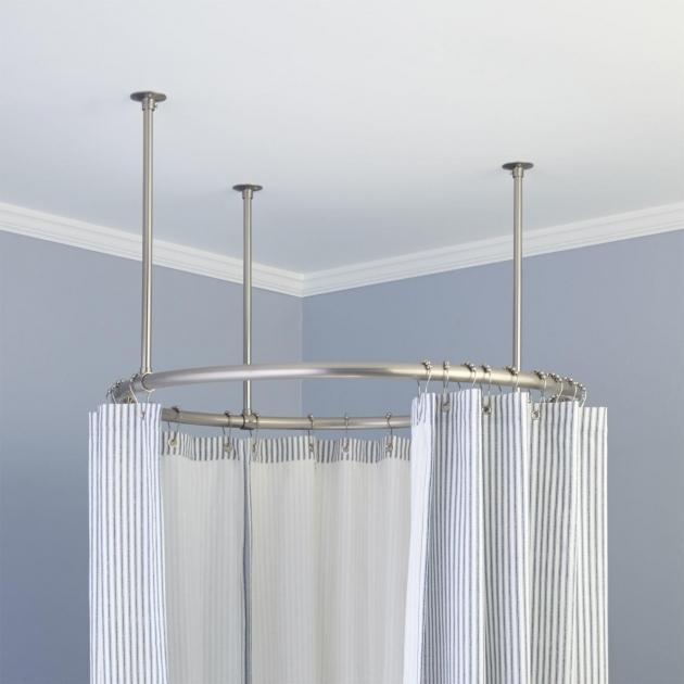Stunning Shower Curtain Rod For Clawfoot Tub 32 Round Solid Brass Shower Curtain Rod Bathroom