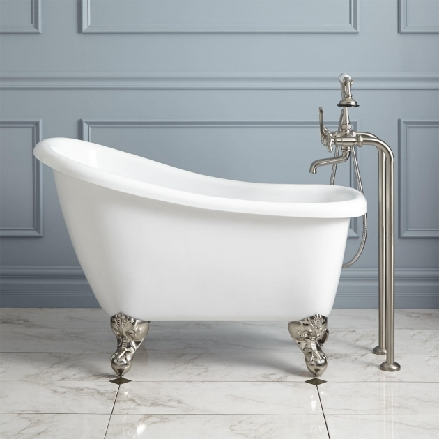 Stylish 4Ft Bathtubs 43 Carter Mini Acrylic Clawfoot Tub Bathroom