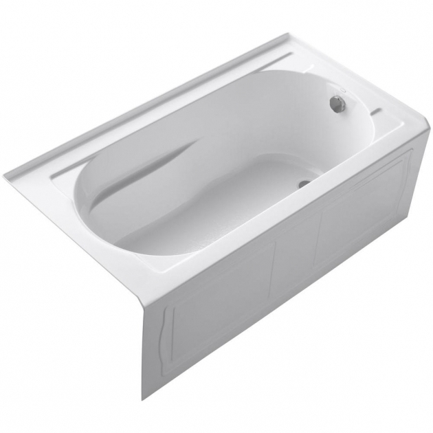 Stylish 4Ft Bathtubs Bootz Industries Honolulu 46 12 In Left Hand Drain Soaking Tub
