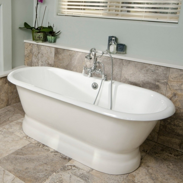 Stylish Stand Alone Soaking Tub Freestanding Tubs Pedestal Bathtub Vintage Tub Bath