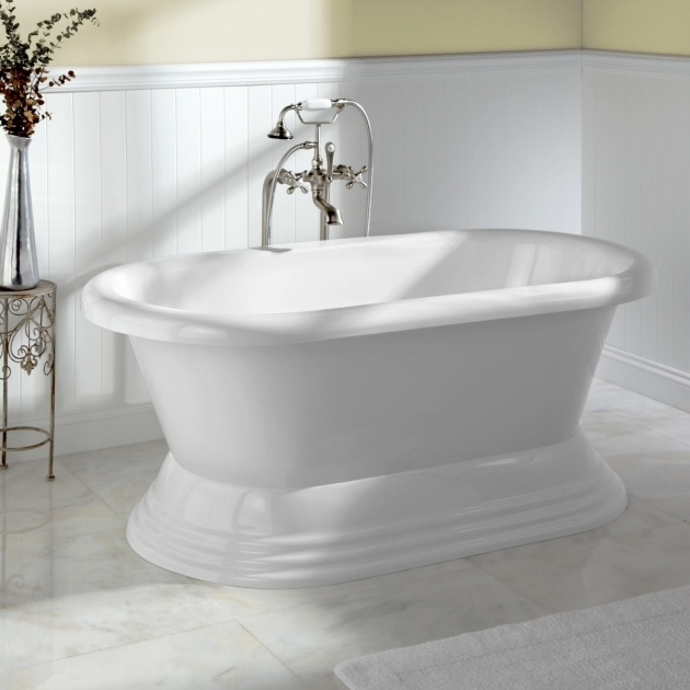 Stand alone soaking tub bathtub designs for Best freestanding tub material