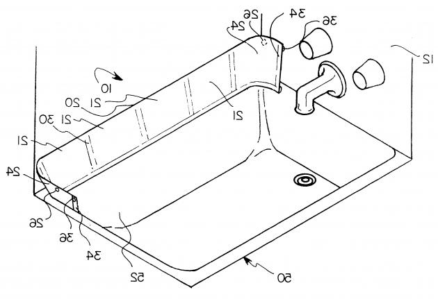Alluring Bathtub Splash Guard Patent Us6341388 Bathtub Splash Guard Assembly Google Patents