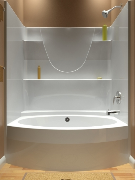 Alluring One Piece Bathtub Shower Combo Tub And Shower One Piece
