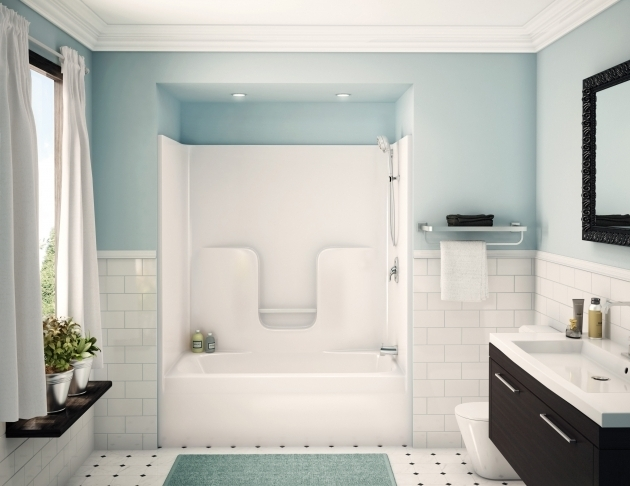 Awesome One Piece Bathtub Shower Combo Bathtub Picture Urevoo