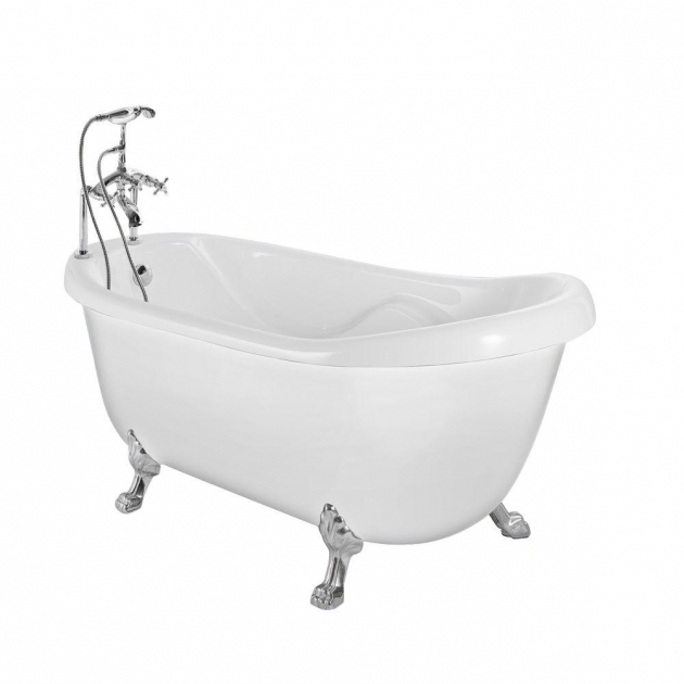 Beautiful Clawfoot Whirlpool Tub Aston 56 Ft Acrylic Slipper Clawfoot Non Whirlpool Bathtub In