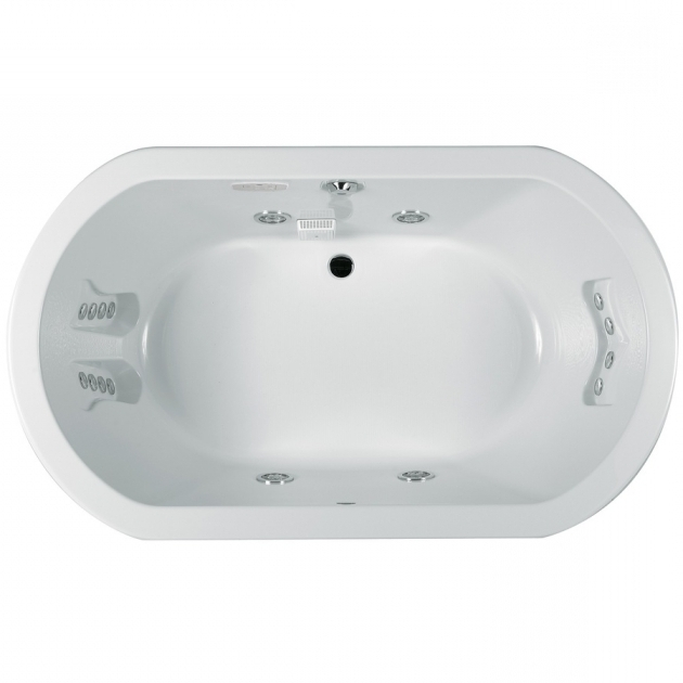 Fantastic 72 Inch Whirlpool Tub Shop Jacuzzi Anza 72 In White Acrylic Drop In Whirlpool Tub With
