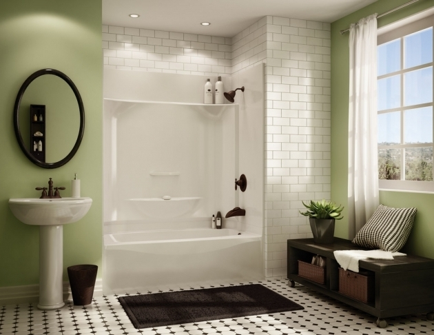 Fantastic One Piece Bathtub Shower Combo 14 Best Images About Tub Surrounds On Pinterest