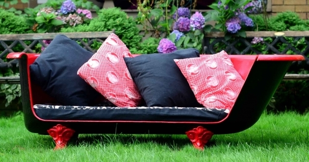 Fascinating Clawfoot Tub Couch How To Make An Upcycled Vintage Cast Iron Claw Foot Bathtub Sofa