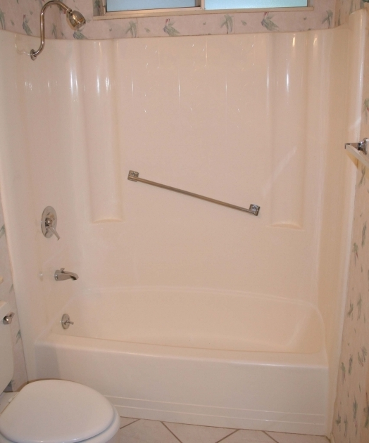 Fascinating Fiberglass Bathtub Shower Combo Bathroom White Fiberglass Tub Shower With Grab Bar With Bathtub