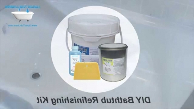 Image of Bathtub Resurfacing Kit Liquid Tub Liners Bathtub Refinishing Kit Youtube