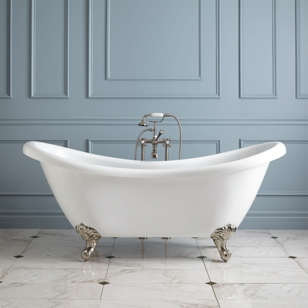 Image of Clawfoot Tub Dimensions 69 Candace Acrylic Clawfoot Tub Imperial Feet Bathroom