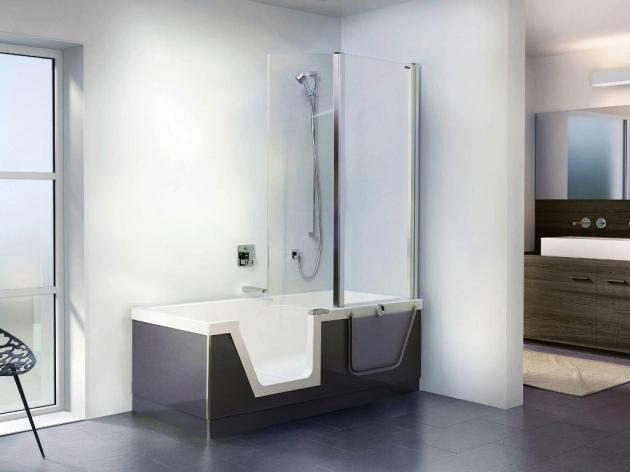 Image of One Piece Bathtub Shower Combo One Piece Tub And Shower Units Kitchen Bath Ideas Bath Tub