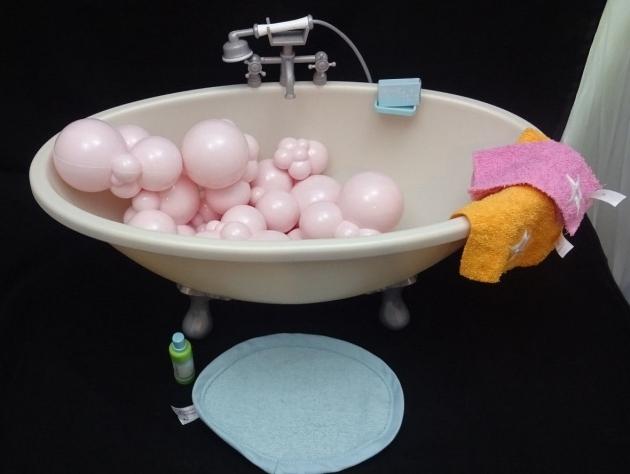 Incredible 18 Inch Doll Bathtub American Girl Doll Bubble Bath Tub Gray Footed For 18 Doll Bath