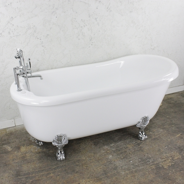 Incredible Jetted Clawfoot Tub Empress Em73n 73 Water Air Spa Jetted Slipper Clawfoot Tub