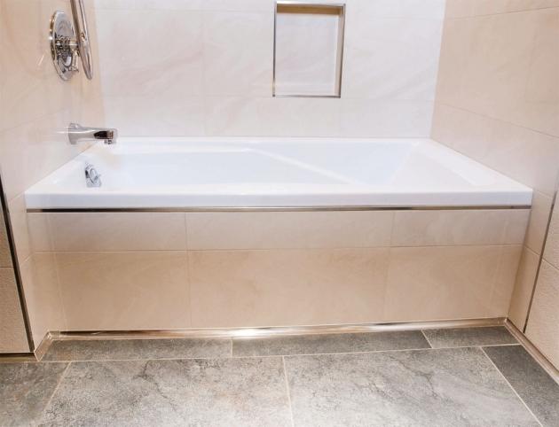 Inspiring Bathtub Floor Trim Make A Splash Schluter