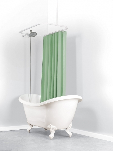 Inspiring Shower Rod For Clawfoot Tub Oval Shower Curtain Rods Shower Curtains Plus